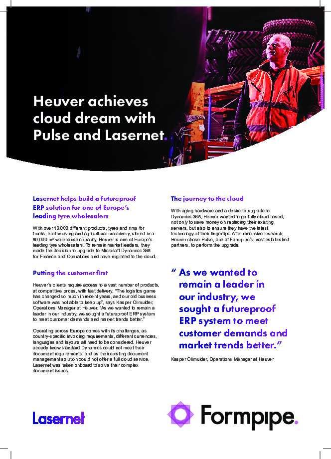 Heuver Achieves Cloud Dream with Pulse and Lasernet