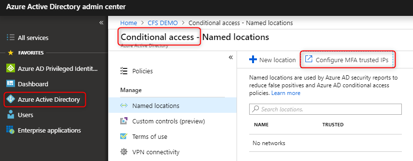 Microsoft Azure Active Directory Conditional Access and