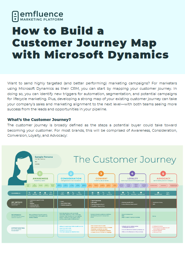 How to Build a Customer Journey Map with Microsoft Dynamics CRM/CE