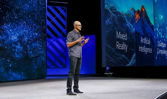 Microsoft CEO Satya Nadella at Ignite 2017