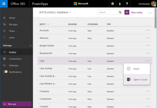 Microsoft PowerApps and Common Data Model (CDM)