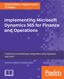 Book Cover: Implementing Microsoft Dynamics 365 for Finance and Operations