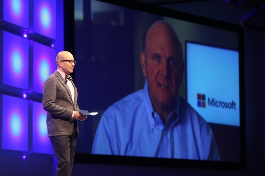 Microsoft CEO Steve Ballmer and Fred Studer at Convergence EMEA 2013