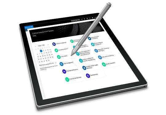 Microsoft Dynamics AX on a Surface