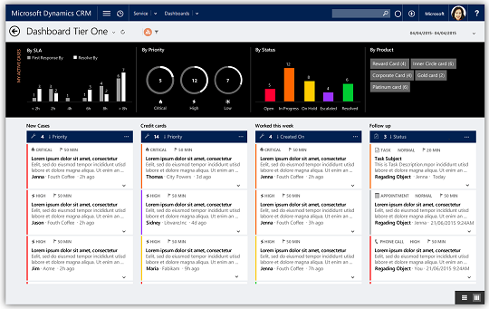 Microsoft Dynamics CRM 2016 Interactive Service Hub, Tier 1