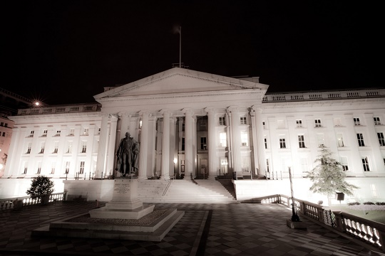 The US Treasury building