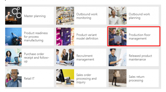 New Microsoft Dynamics AX Production Floor Management