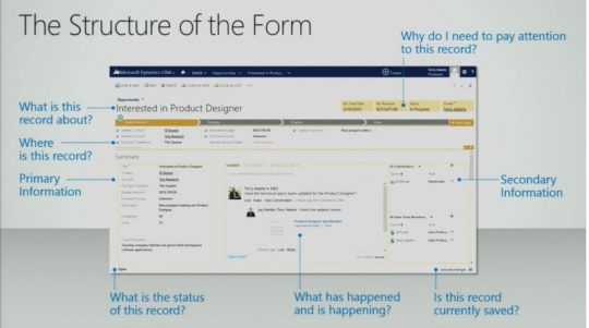 Microsoft Dynamics CRM 2013 form structure
