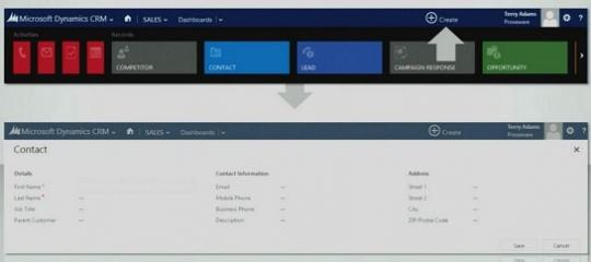 Microsoft Dynamics CRM 2013 Quick Create