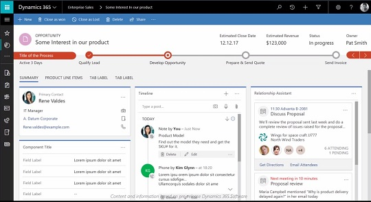 The next generation Dynamics 365/CRM interface