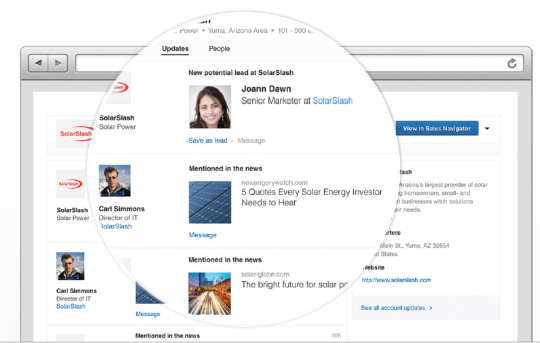 Dynamics CRM integration actions for LinkedIn Sales Navigator