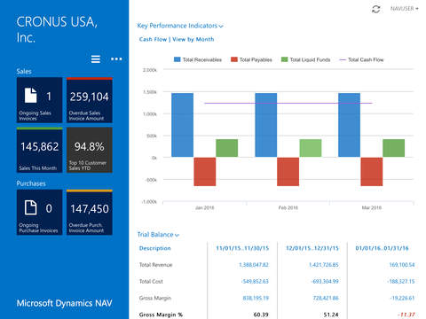 Microsoft Dynamics NAV 2015 on iPad