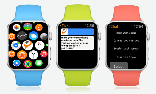 Webfortis customer service app for Dynamics CRM and Parature on Apple Watch