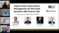 Expert Panel Discussion: Subscription Management for Microsoft Dynamics 365 Finance (AX)