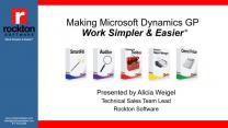 Making Dynamics GP Work Simpler & Easier