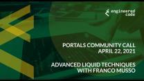 Portals Community Call, April 2021: Advanced Liquid Techniques with Franco Musso