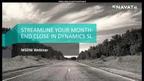 Streamline your Month-End Close in Dynamics SL