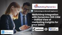 1 Click Mailchimp Integration with Dynamics 365 CRM - Make marketing insights work for your sales!