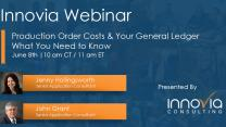 Production Order Costs & Your General Ledger: What You Need to Know