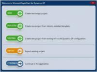 Welcome screen in GP 2013 RapidStart tool