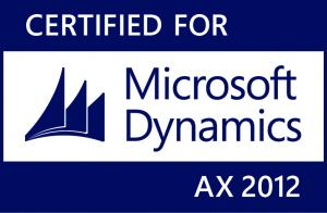 Certified for Microsoft Dynamics AX 2012