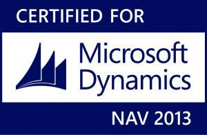 Certified for Microsoft Dynamics NAV 2013