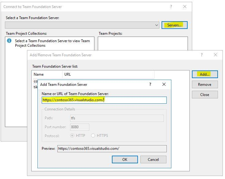 Select the account linked with Azure DevOps