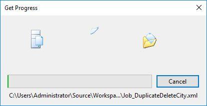 Get progress VSTS files download to VM