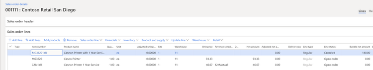 Microsoft Dynamics 365 Finance Bundling and Sales Order Processing
