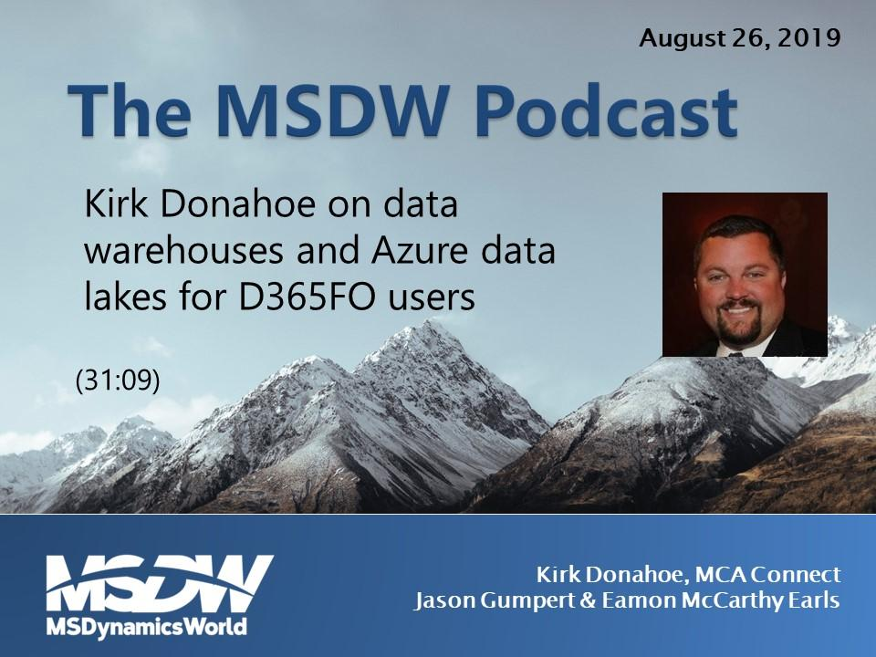 MSDW Podcast: Data warehouses and Azure data lakes for