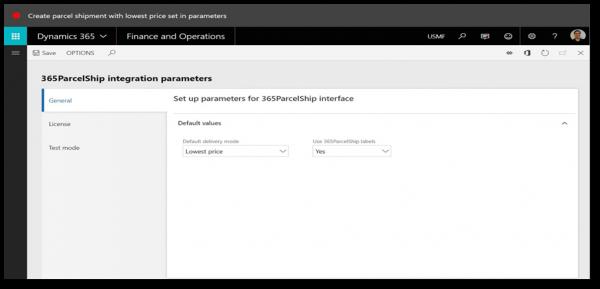 365ParcelShip Auto Select Rate Screenshot